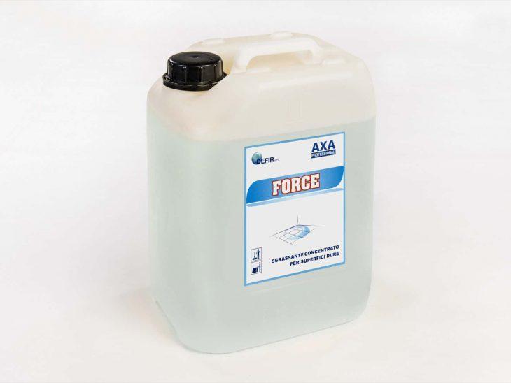 Axa Force sgrassante concentrato superfici microporose - Defir detergenti Moncalieri Torino