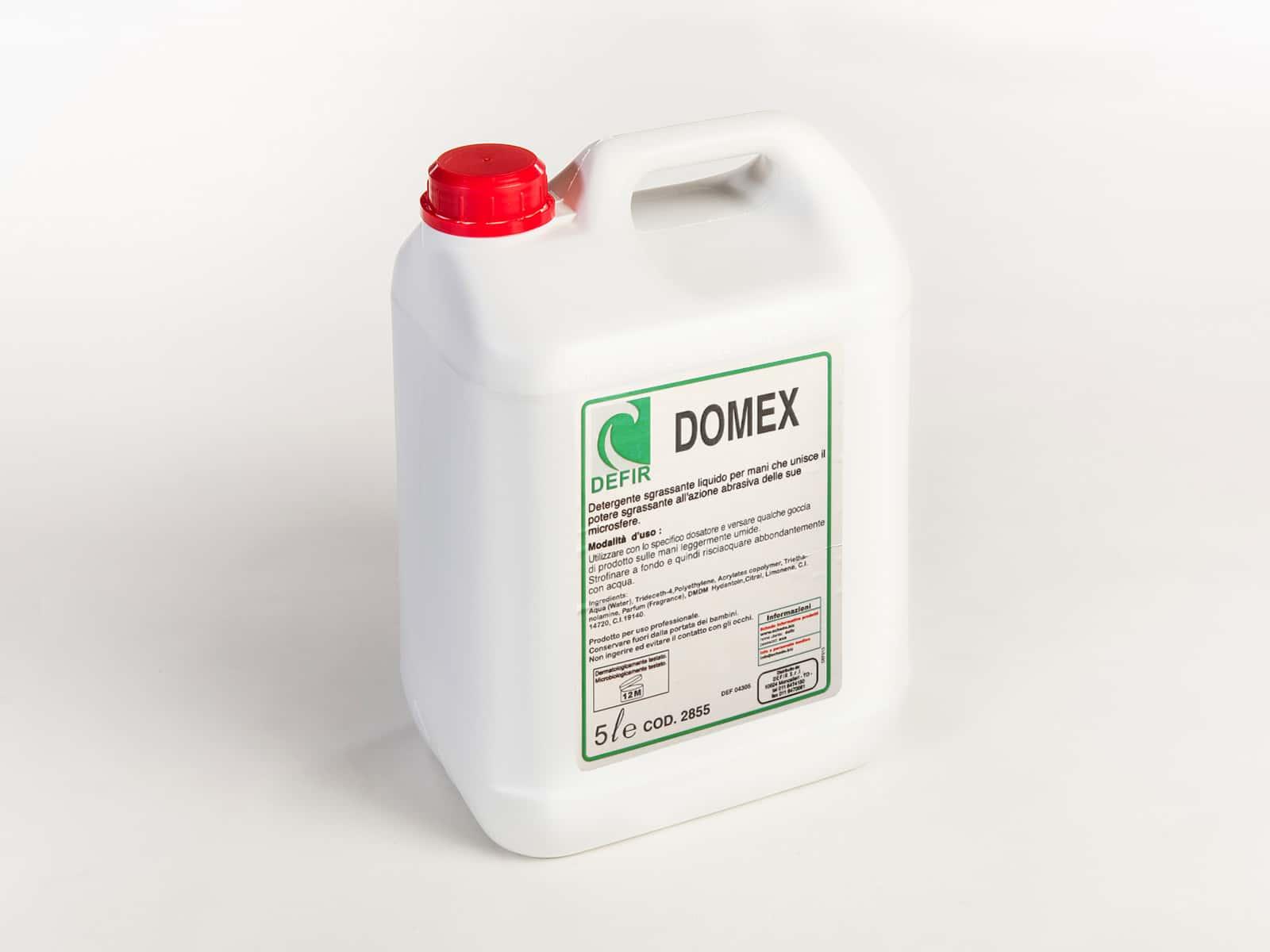 Domex crema lavamani sgrassante con microsfere abrasive 5L - Defir detergenti Moncalieri Torino