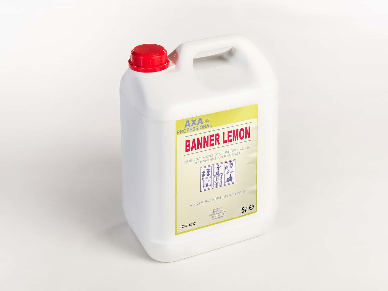 Axa Banner Lemon detersivo superfici profumato - Defir detergenti Moncalieri Torino
