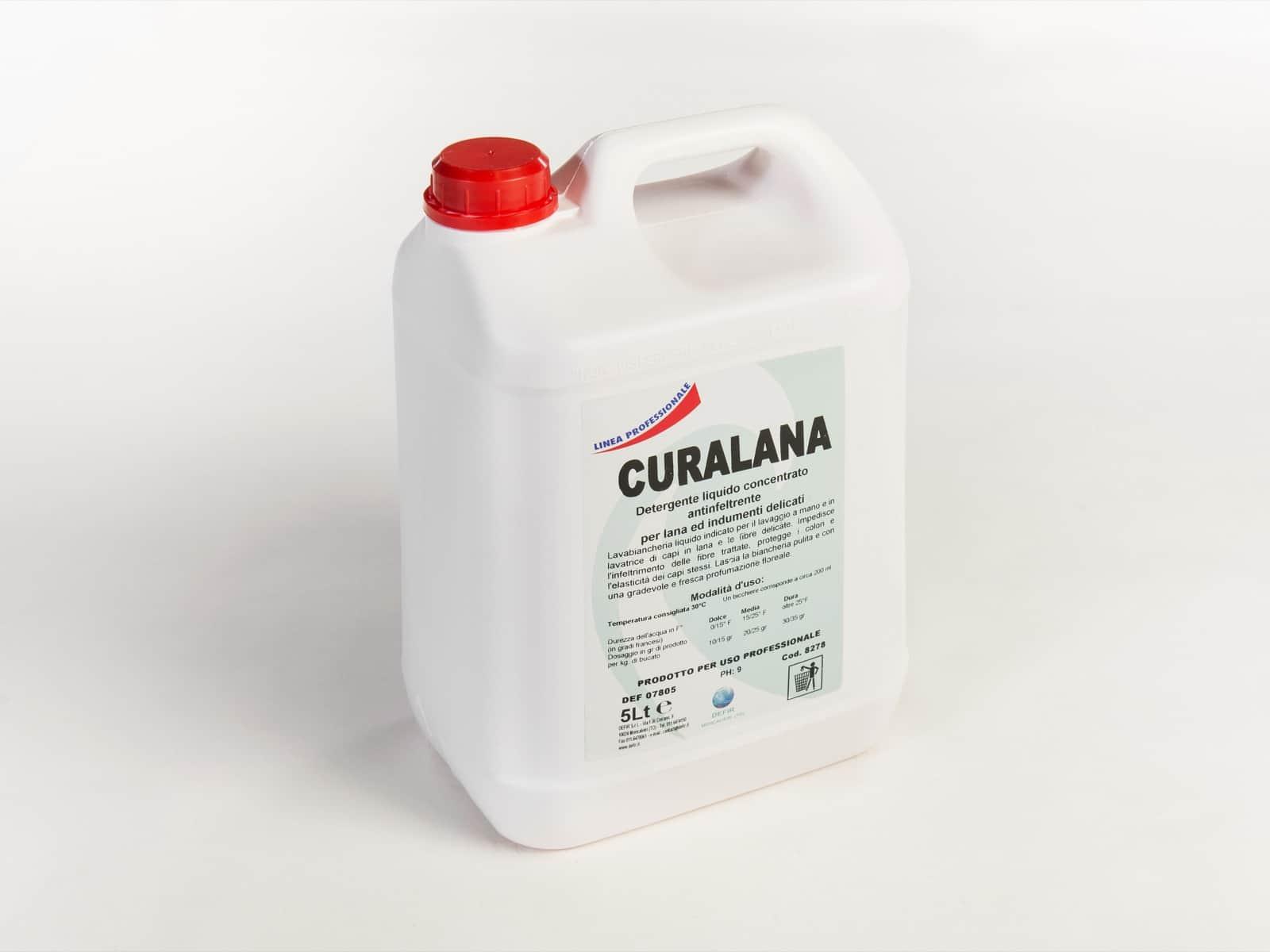 Curalana detersivo concentrato lavatrice delicati 5L - Defir detergenti Moncalieri Torino