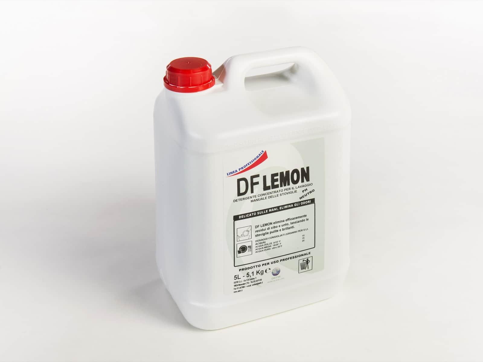 DF Lemon detersivo concentrato sgrassante stoviglie 5L - Defir detergenti Moncalieri Torino