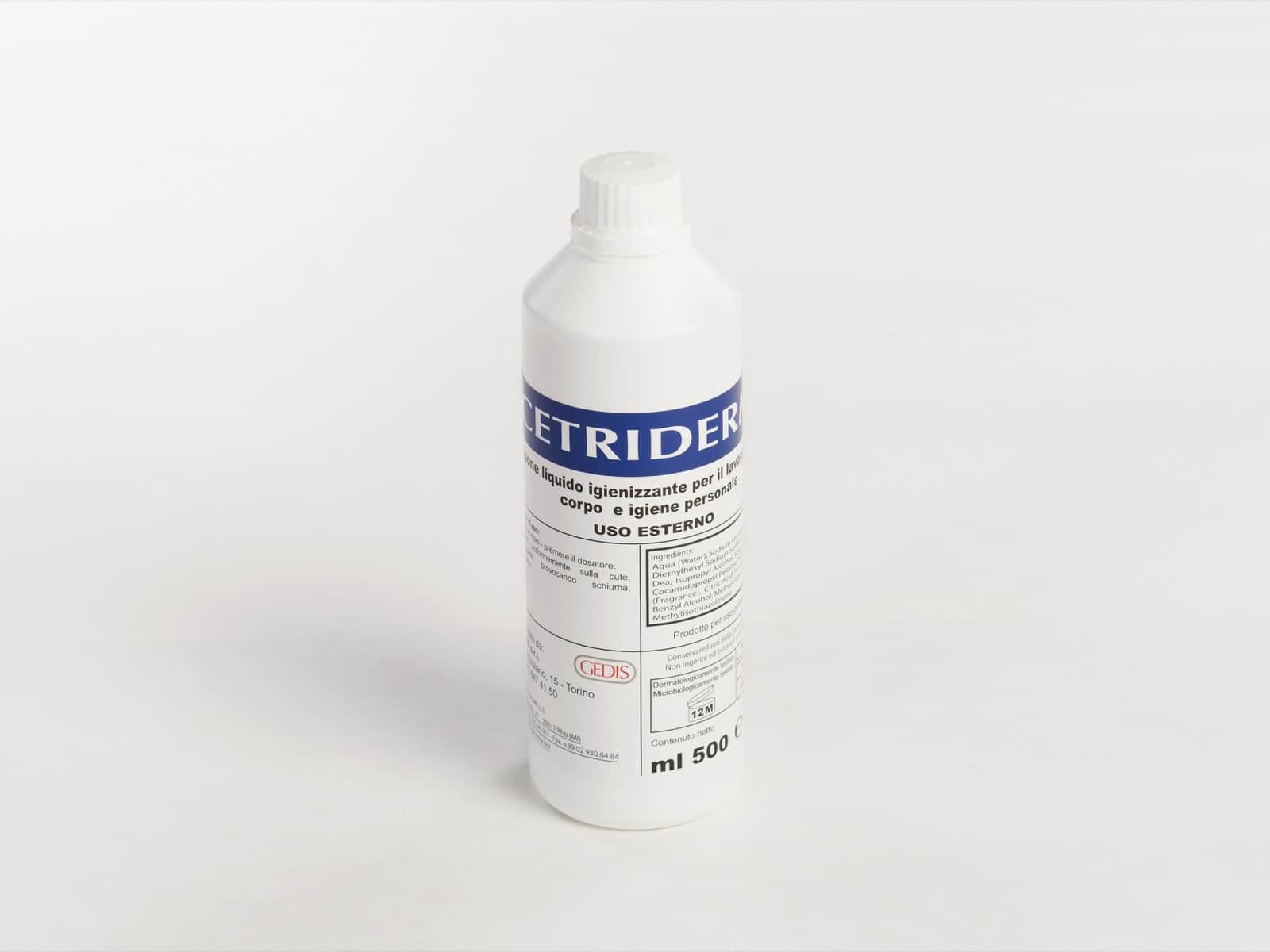 Gedis Cetriderm sapone liquido 500ml - Defir detergenti Moncalieri Torino