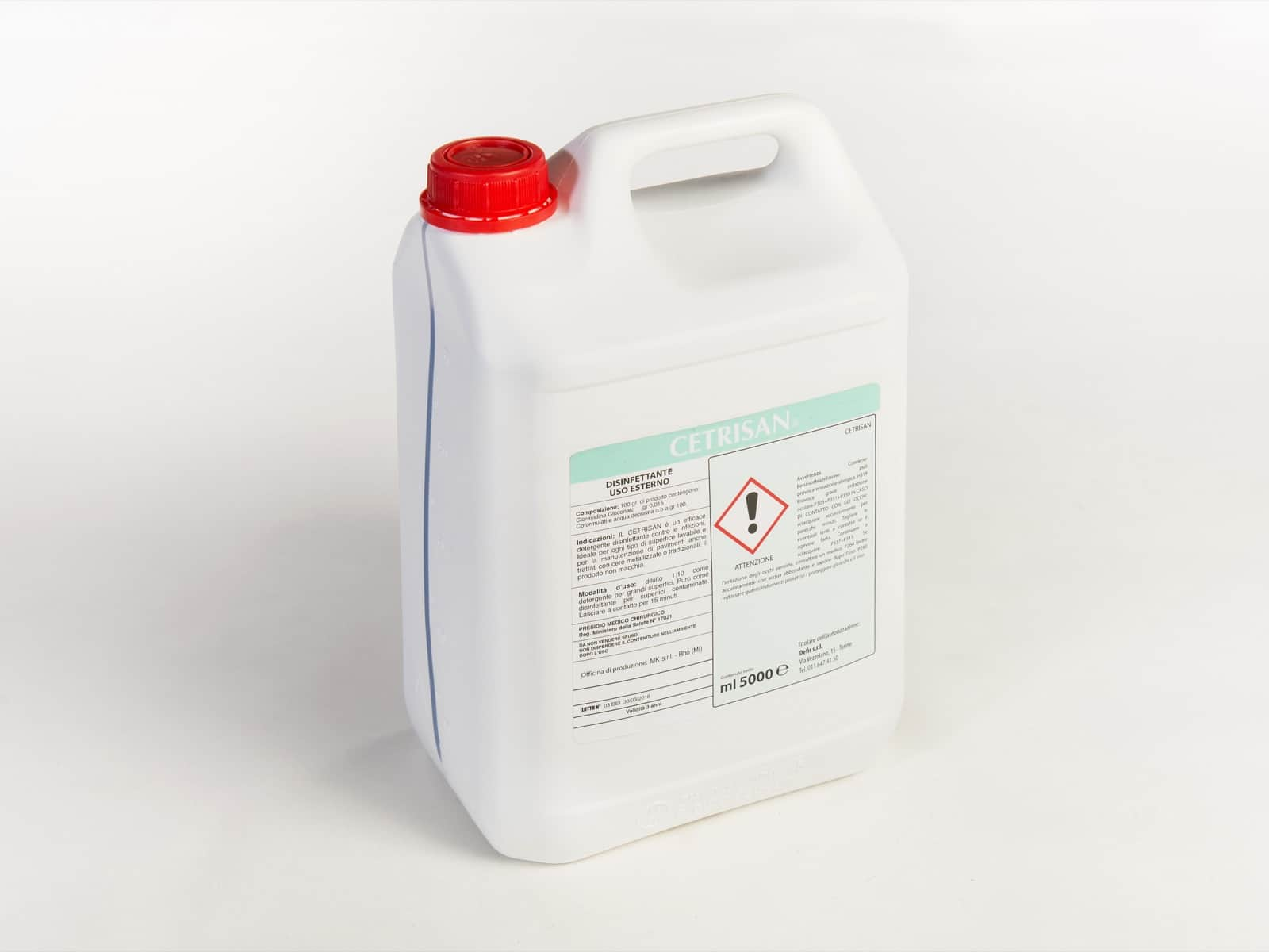 Gedis Cetrisan disinfettante 5L - Defir detergenti Moncalieri Torino