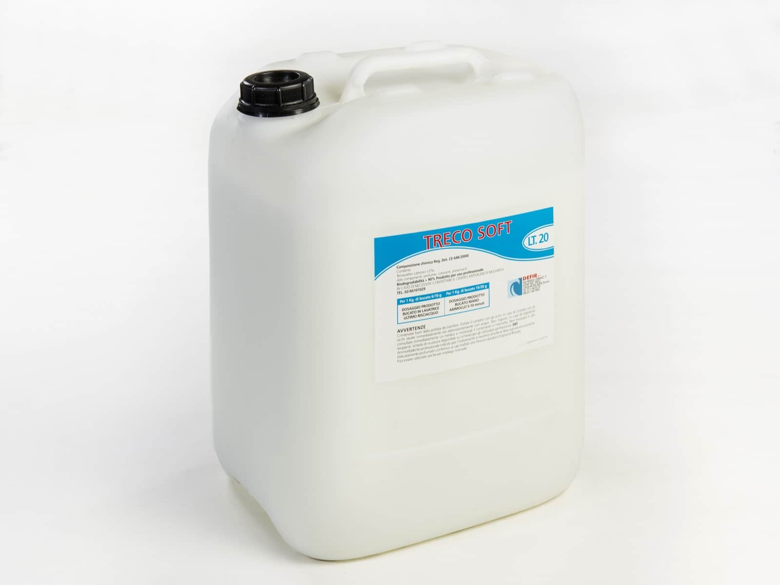 Treco Soft lavatrice ammoridente concentrato profumato 20l - Defir detergenti Moncalieri Torino